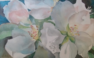 Molenda_Lynn__Spring Light__watercolor_2012_13_H X 19_W